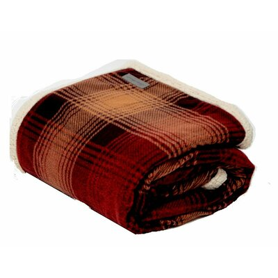 Sherpa Fleece Throw Color: Raisin