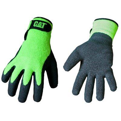 CAT Rainwear Boss Latex Coated Knit Gloves in Fluorescent Green - Size: Medium at Sears.com
