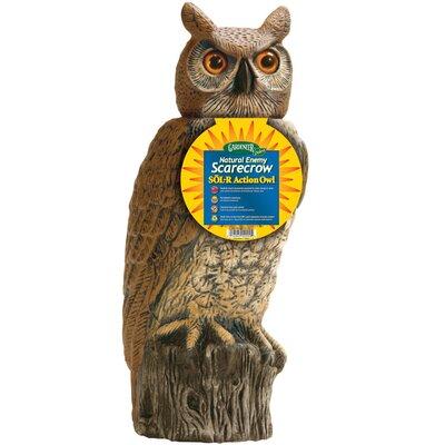 Gardeneer Solar Rotating Head Owl Statue DALSRHO4