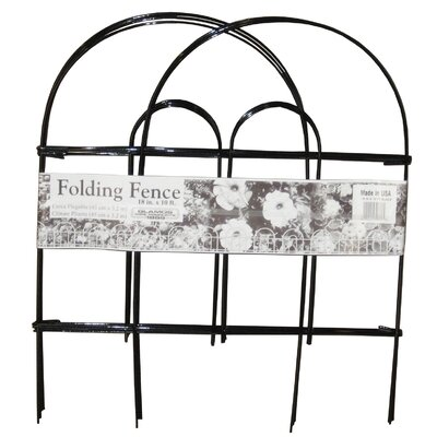 """Image of Folding Wire Fence Panel Color: Black, Size: 18"""" H"""