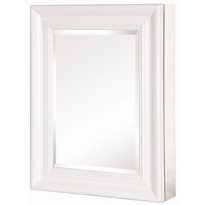 "Pegasus Deco 20"" x 26"" x 5.5"" Framed Medicine Cabinet - Frame Finish: White at Sears.com"