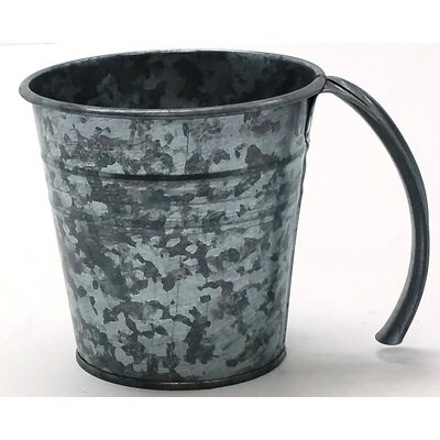 Kinnison Enameled Galvanized Scoop Color: Antiqued Galvanized