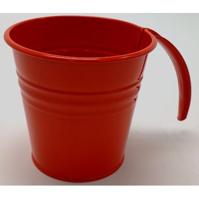 Enameled Galvanized Scoop Color: Red