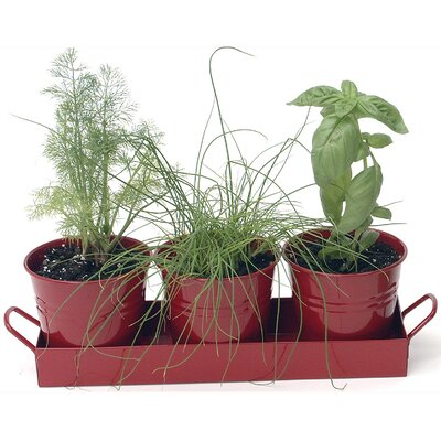 3-Piece Metal Pot Planter Set (Set of 12)