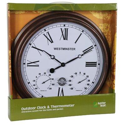 "16.4"" Rust Henley Wall Clock 20053"
