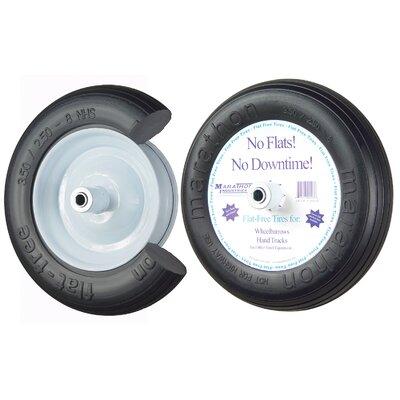 """13"""" Ribbed Flat Free Wheelbarrow Tire 00003"""