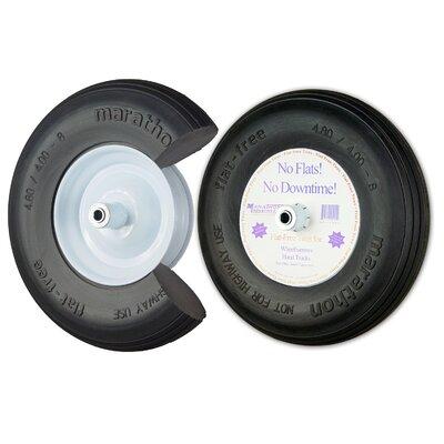 """16"""" Ribbed Flat Free Wheelbarrow Tire 00001"""