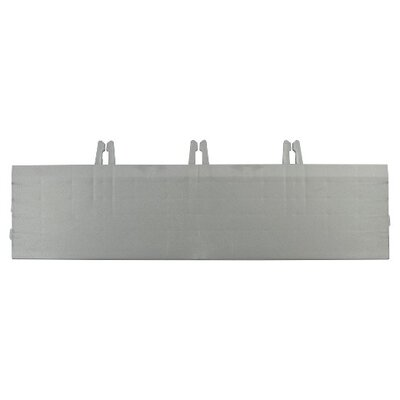 Armadillo Bevels 3.63 x 12.38 Tile in Polished Chrome