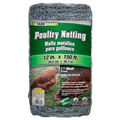 1 Mesh Hexagonal Poultry Netting Size: 12 x 1800