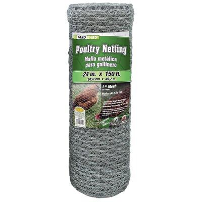 1 Mesh Hexagonal Poultry Netting Size: 24 x 1800