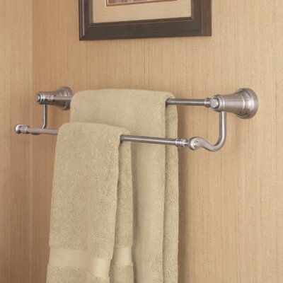 Ashfield Double Wall Mounted Towel Bar Finish: Brushed Nickel