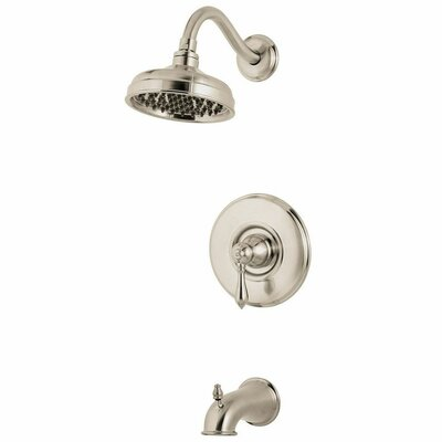 Marielle Single Handle Tub and Shower Trim Finish: Brushed Nickel