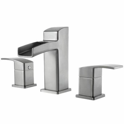 Kenzo Double Handle Widespread Waterfall Faucet Finish: Brushed Nickel