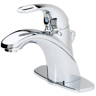 Parisa Single Handle Centerset Standard Bathroom Faucet with Flex-Line Supply Lines and Metal Pop-Up Assembly