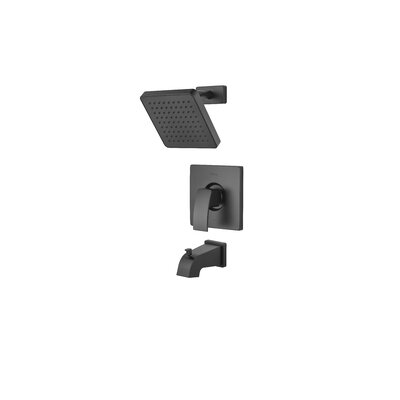 Kenzo Tub and Shower Faucet Trim with Knob Handle Finish: Black