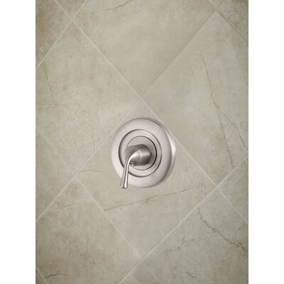 Universal Trim Single Handle Tub & Shower Valve Only Trim Finish: Brushed Nickel