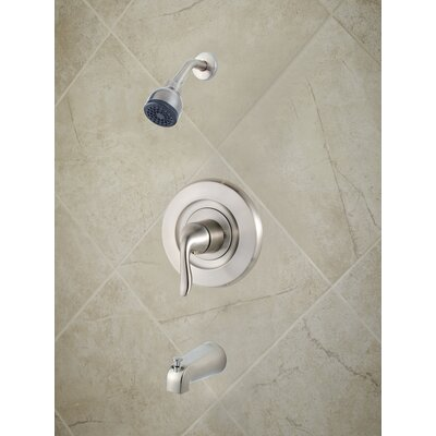 Universal Trim Single Handle Tub & Shower Trim Finish: Brushed Nickel