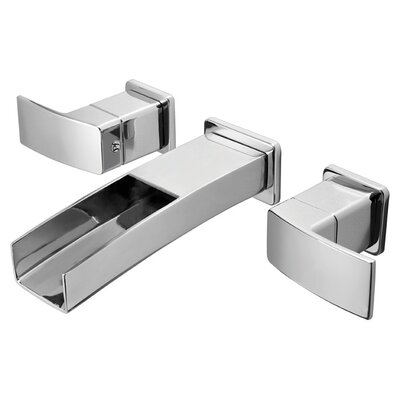 Kenzo Double Handle Wall Mounted Bathroom Faucet Trim Finish: Polished Chrome