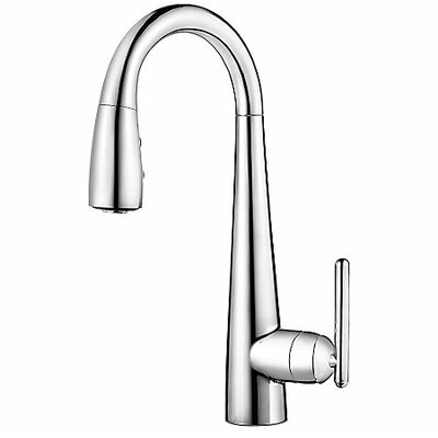 Lita Single Handle Deck Mounted Bar/Prep Kitchen Faucet Finish: Polished Nickel