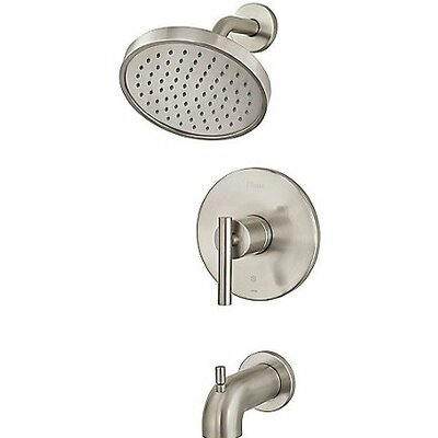 Contempra Tub and Shower Trim Single Handle Finish: Brushed Nickel