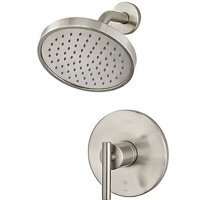 Contempra Shower Faucet Trim Single Handle Finish: Brushed Nickel