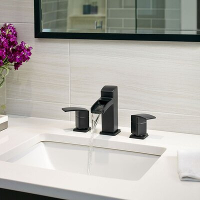 Kenzo Double Handle Widespread Waterfall Faucet Finish: Black
