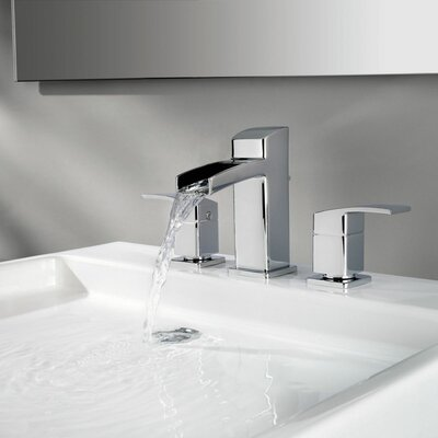 Kenzo Double Handle Widespread Waterfall Faucet Finish: Polished Chrome