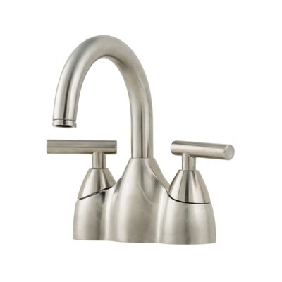 Contempra Double Handle Centerset Standard Bathroom Faucet with Drain Assembly Finish: Brushed Nickel