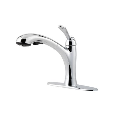 Clairmont Single Handle Kitchen Faucet with Side Spray Finish: Polished Chrome