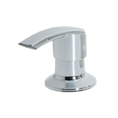 Soap Dispenser with Flat Nozzle Finish: Polished Chrome