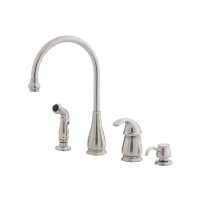 Treviso Single Handle Standard Kitchen Faucet Finish: Stainless Steel