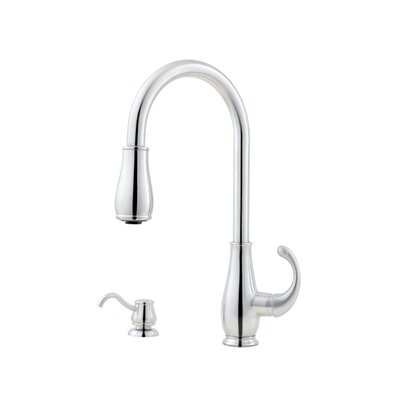 Treviso Single Handle Deck Mounted Kitchen Faucet with Soap Dispenser Finish: Stainless Steel