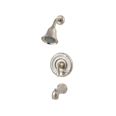 Santiago Diverter Tub and Shower Faucet with Lever Handle Finish: Brushed Nickel