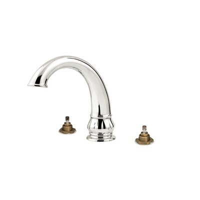 Treviso Two Handle Deck Mount Roman Tub Faucet Trim Finish: Brushed Nickel