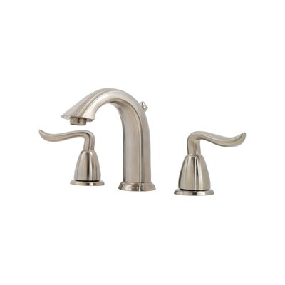 Santiago Double Handle Widespread Standard Bathroom Faucet Finish: Brushed Nickel