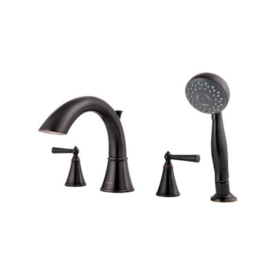 Saxton Two Handle Deck Mount Roman Tub Faucet Trim Finish: Tuscan Bronze