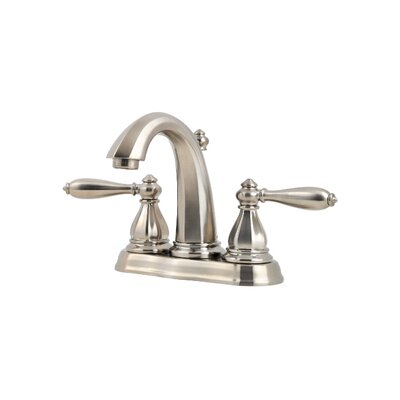 Portola Double Handle Centerset Standard Bathroom Faucet with Drain Assembly Finish: Brushed Nickel