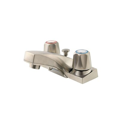 Pfirst Series Double Handle Centerset Standard Bathroom Faucet with Drain Assembly Finish: Brushed Nickel