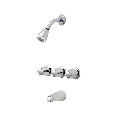 Three Thermostatic Tub and Shower Faucet Trim with Lever Handle