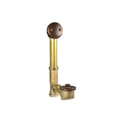 Turnstop Waste Leg Tub Tub Drain Finish: Rustic Bronze