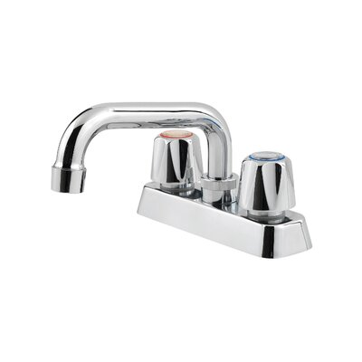 Pfirst Desk Mount Laundry Faucet with Threaded Spout and Double Knob Handle