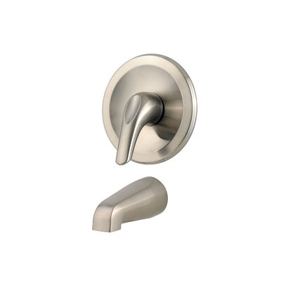 Pfirst Series Thermostatic Tub and Shower Faucet Trim with Lever Handle Finish: Brushed Nickel