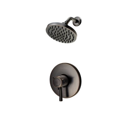 Volume Control Shower Faucet Trim with Lever Handle Finish: Tuscan Bronze