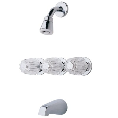 Bedford Diverter Tub and Shower Faucet Trim with Verve Handles