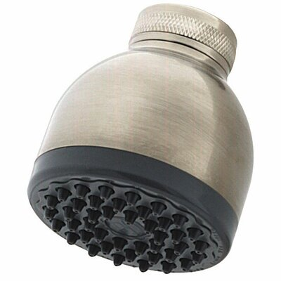 Portland Bell Showerhead Finish: Brushed Nickel, Flow Rate: 2.0