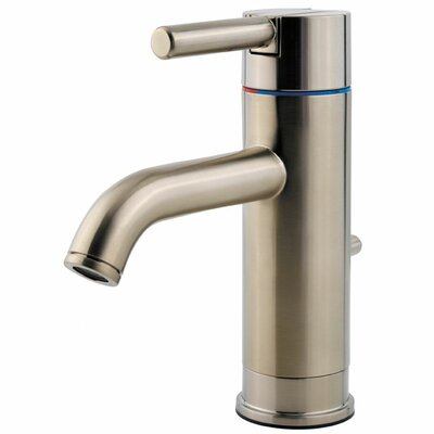 Contempra Joystick Single Handle Centerset Standard Bathroom Faucet with Drain Assembly Finish: Brushed Nickel