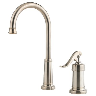 Ashfield Single Handle Deck Mounted Bar Faucet Finish: Brushed Nickel