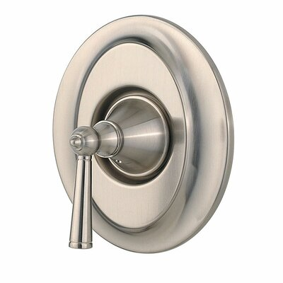 Saxton Single Handle Tub and Shower Valve Only Trim Finish: Brushed Nickel