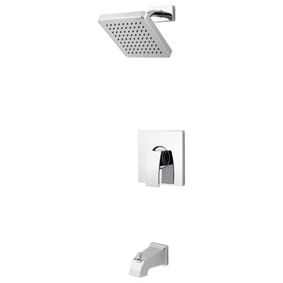 Kenzo Tub and Shower Faucet Trim with Knob Handle Finish: Polished Chrome