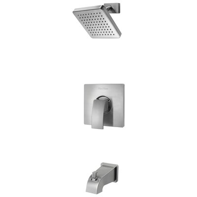 Kenzo Tub and Shower Faucet Trim with Knob Handle Finish: Brushed Nickel